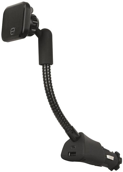 Scosche e2 magnetický držák do autozapalovače s USB konektorem