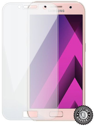 Screenshield temperované sklo na displej pro SAMSUNG A320 Galaxy A3 (2017) (full COVER transparent)