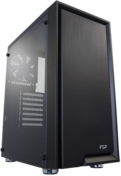 Fortron CMT140, průhledná bočnice, černá