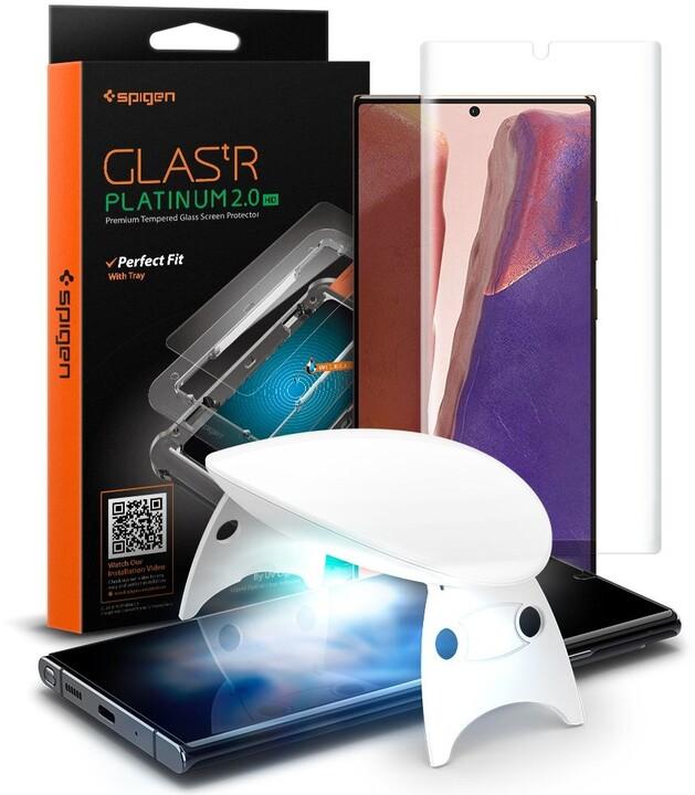 Spigen ochranné sklo Glas.tR Platinum pro Samsung Galaxy Note 20, 2.5D, 0.3mm, čirá