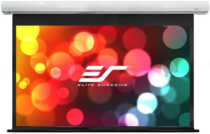 """Elite Screens plátno elektrické motorové 135"""" (342,9 cm)/ 16:9/ 168,1 x 299 cm/ case bílý"""
