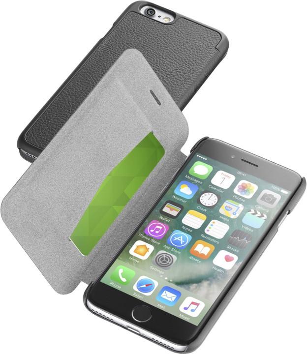 CellularLine Book Essential pouzdro typu kniha pro Apple iPhone 7, černá