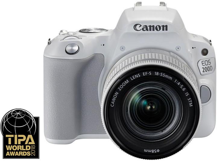 Canon EOS 200D + 18-55mm IS STM, bílá