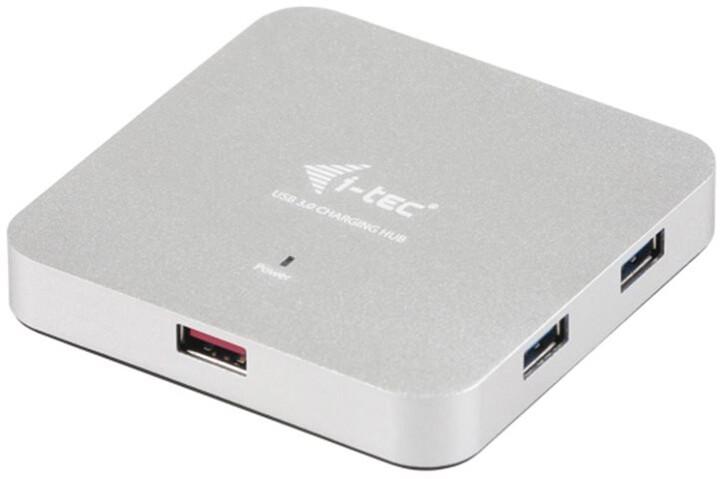 i-Tec USB 3.0 Hub 5-Port, metal, s napaječem