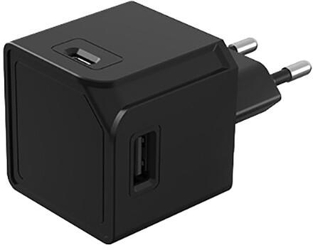PowerCube rozbočovač USBcube Original 2xUSB, 2xUSB-C, černá