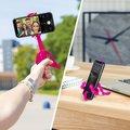"""CELLY flexibilní držák s přísavkami Squiddy pro telefony do 6,2"""", růžový"""