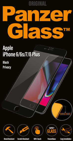 PanzerGlass Premium Privacy pro Apple iPhone 6/6s/7/8 Plus, černé