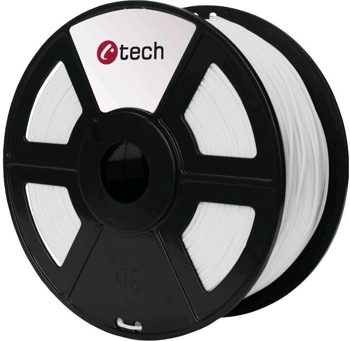 C-TECH tisková struna (filament), PETG, 1,75mm, 1kg, bílá