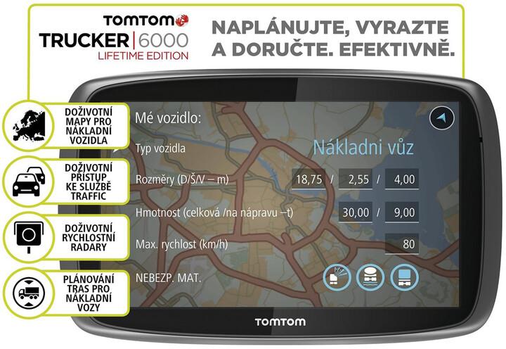 TOMTOM TRUCKER 6000, Lifetime mapy, doživotní Traffic služby