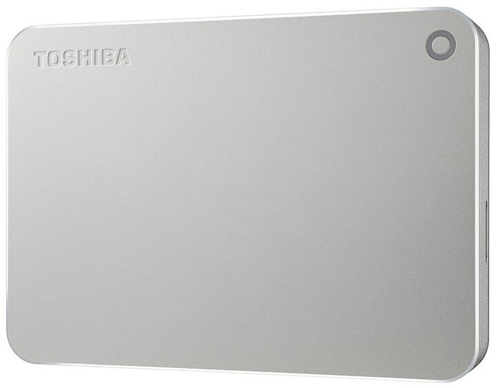 Toshiba Canvio Premium - 3TB, metalická stříbrná