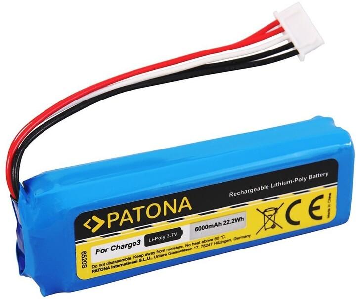 Patona baterie pro reproduktor JBL Charge 3, 6000mAh, 3,7V Li-Pol
