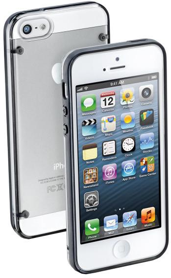 CellularLine zadní ochranný kryt Bumper Plus pro Apple iPhone 5/5S/SE, černá + fólie na displej
