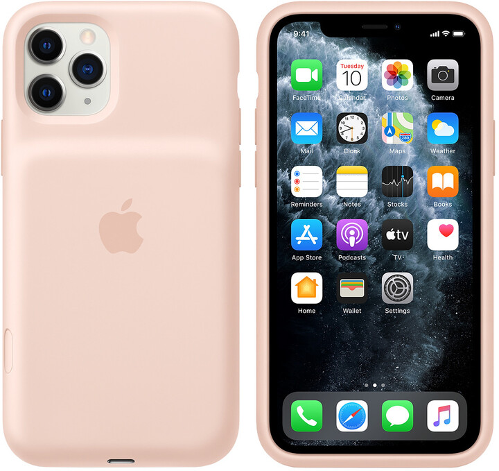 Apple iPhone 11 Pro Smart Battery Case with Wireless Charging, pink