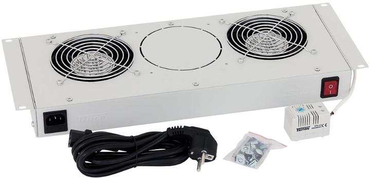 Triton ventilační jednotka RAC-CH-X24-X1, 1x ventilátor, 220V/15W, bimetalový termostat, šedá