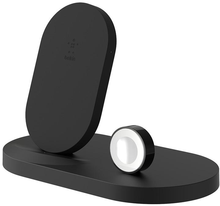 Belkin stojánek pro bezdrátové nabíjení Apple Watch + iPhone 8/8+/X/Xs/XsMax/Xr + USB port - černý