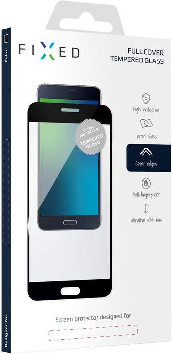 FIXED Ochranné tvrzené sklo Full-Cover pro Huawei Y9 (2018), černé