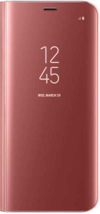Samsung S8 Flipové pouzdro Clear View se stojánkem, růžová