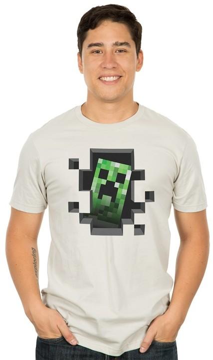 Minecraft Creeper Inside, stříbrné (US M / EU L)