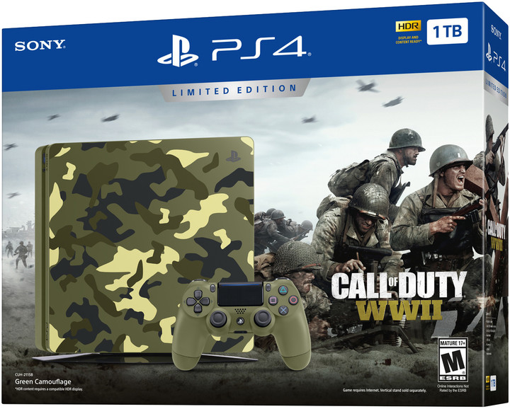 PlayStation 4 Slim, 1TB, Call of Duty: WWII Limited Edition