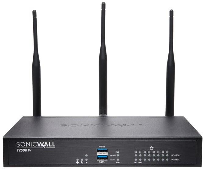 SonicWall TZ500 Wi-Fi, Dual-band, podpora 8x5 na 1 rok