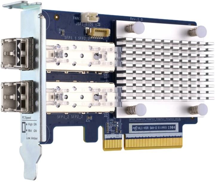 QNAP QXP-16G2FC Rozšiřující karta - Fibre Channel, 16Gb, dvouportová, SFP+