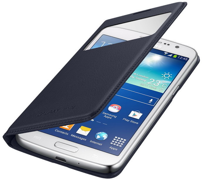 Samsung flipové pouzdro S-view EF-CG710BL pro Galaxy Grand 2, modrá