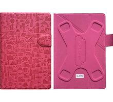 """PORTCASE pouzdro na tablet PC, TBL-570PN, 7"""", EKO kůže, růžové"""