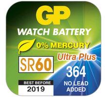 GP 364F knoflíková baterie do hodinek (SR60, V364, SR621, SB-AG/DG) 10ks - 1043036435