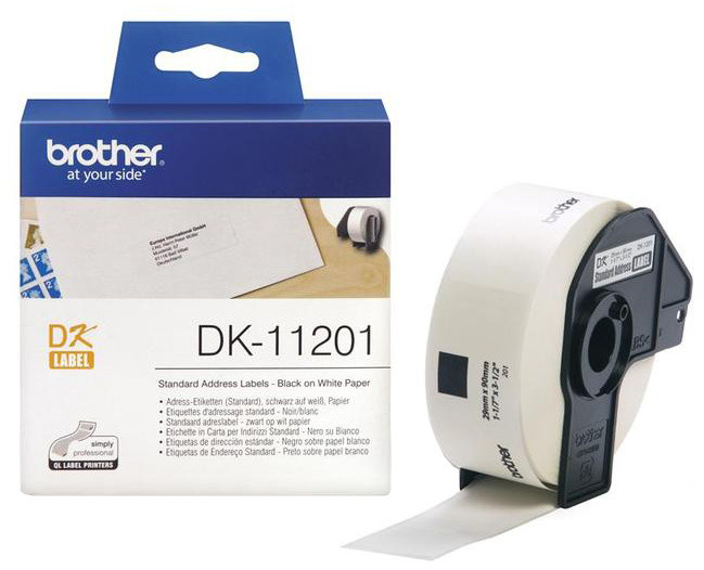 Brother - DK11201 (papírové / standardní adresy - 400 ks) 29 x 90 mm