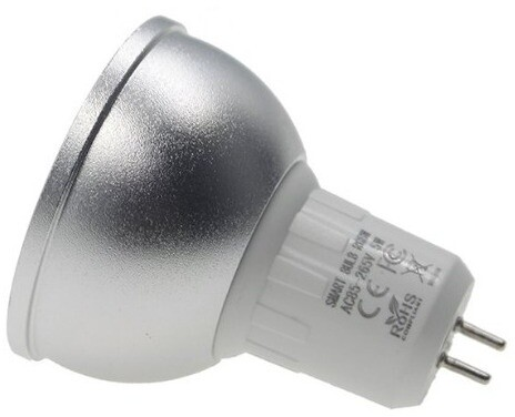 iQtech SmartLife chytrá žárovka, MR16, LED, 5W, Wi-Fi, RGBW