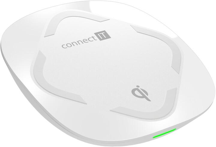 CONNECT IT Qi CERTIFIED Fast bezdrátová nabíječka, 10 W, bílá