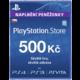 Karta Playstation Store kredit v hodnotě 500 Kč