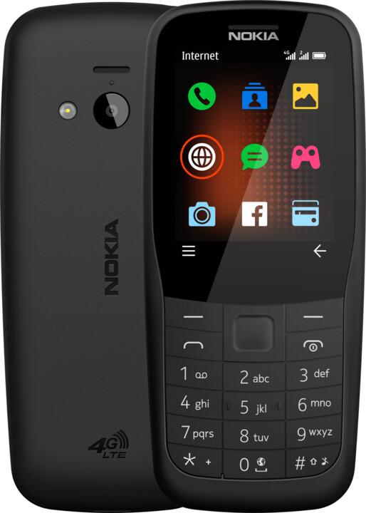 Nokia 220, 4G, Black