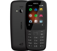Nokia 220, 4G, Black - 16QUEB01A02