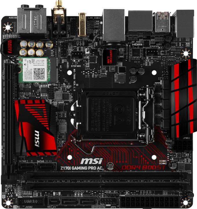 MSI Z170I GAMING PRO AC - Intel Z170