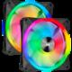 Corsair iCUE QL140 RGB, 2x140mm, Lighting Node CORE, černý