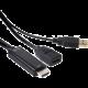 Club3D adaptér HDMI 1.4 na DisplayPort 1.1 (M/F), USB napájení, 18cm