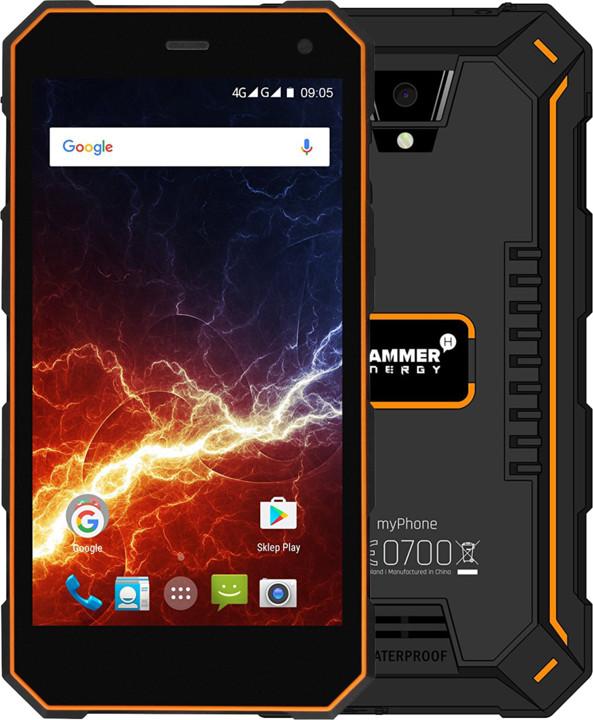 myPhone HAMMER ENERGY 3G, černá/oranžová
