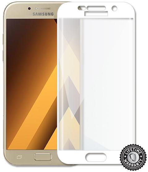 Screenshield temperované sklo na displej pro Galaxy A5 2017 (A520), kovový rámeček, bílá