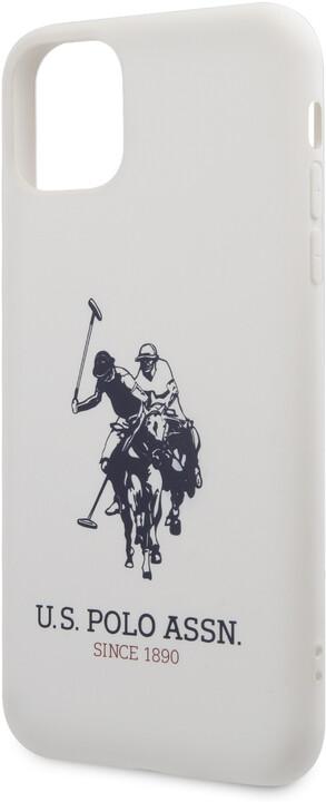 U.S. Polo silikonový kryt Big Horse pro iPhone 11 Pro Max, bílá