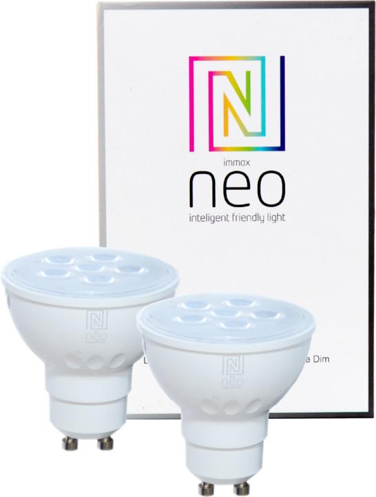 IMMAX Neo 2x LED GU10/230V 4,8W TB 350lm Zigbee Dim