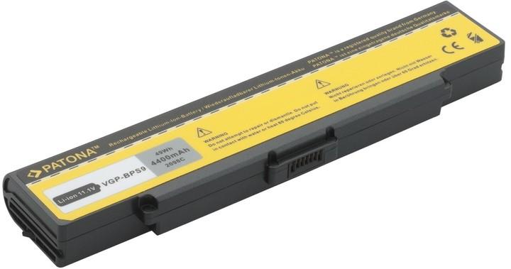 Patona baterie pro SONY VAIO VGP-BPS9/ BPL9 4400mAh 11,1V, černá