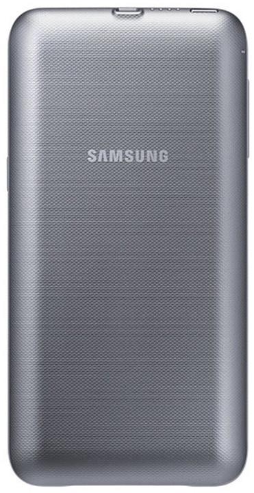 Samsung sada pro bezdrátové nabíjení EP-TG928BSE pro Galaxy S6 Edge+, stříbrná