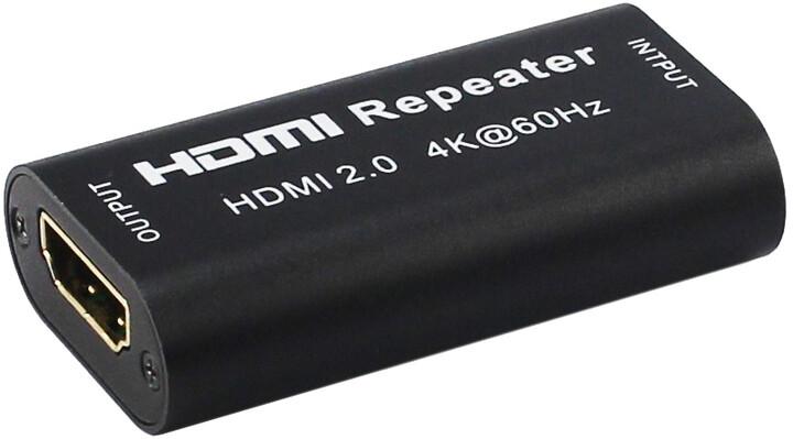 PremiumCord HDMI 2.0 repeater až do 40m, rozlišení 4Kx2K@60Hz