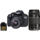 Canon EOS 200D + 18-55mm DC III + 75-300mm DC III, černá  + Powerbanka EnerGEEK v hodnotě 499 Kč