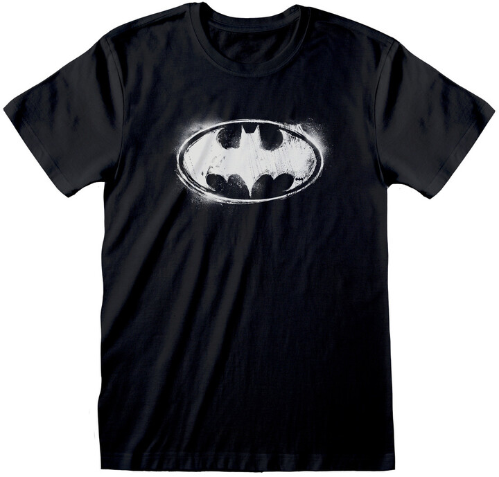 Tričko DC Batman - Distressed Mono Logo (M)