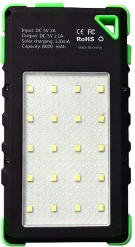Viking solární outdoorová power banka Akula I 8000mAh Ultra Light, zelená