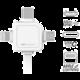 PowerCube Cable 1.5m, USB-C, bílý