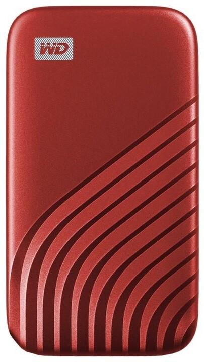 Western Digital My Passport - 1TB, červená