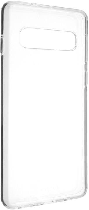 FIXED ultratenké TPU gelové pouzdro Skin pro Samsung Galaxy S10, 0,6 mm, čiré